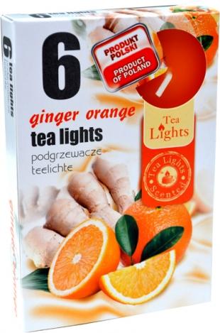 Tea lights (6psc.) - GINGER ORANGE