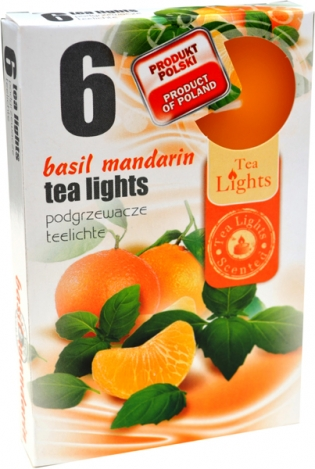Tea lights (6psc.) - BASIL, MANDARIN