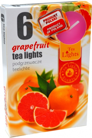Tea lights (6psc.) - GRAPEFRUIT