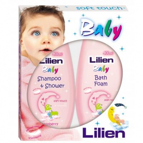 LILIEN BABY gift box 2*400ml. Rasberry