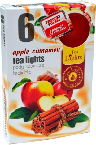 Tea lights (6psc.) - APPLE, CINNAMON